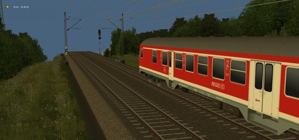 Eine Regionalbahn am Sbk 198